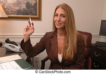 526, ejecutivo, hembra