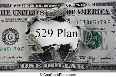 529, concept, collège, économies
