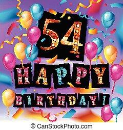 54th Years Anniversary Celebration Design