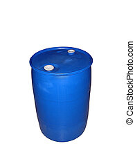 55 Gallon Drum - This is a picture of a blue plastic 55...