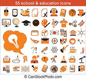 55, opleiding, iconen