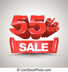 55 percent off sale red