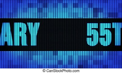 55th Anniversary Front Text Scrolling LED Wall Pannel...