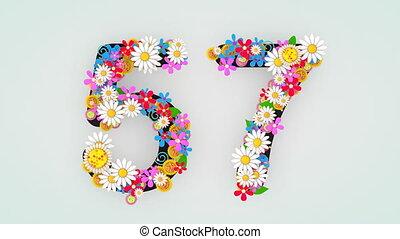 """57."""", цветочный, анимация, """"numerical, разряд"""