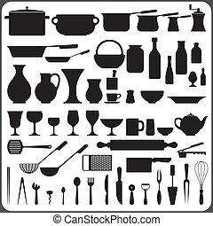 57 Kitchenware Objects Set