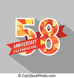 58th, jaren, jubileum, celebration.