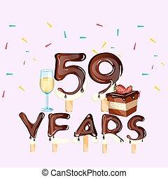 Anni Compleanno 45 Scheda Felice Compleanno Card 45