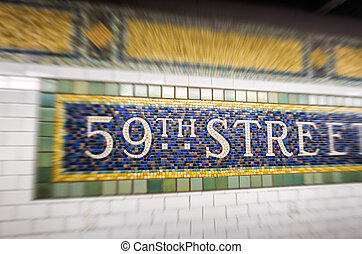 59th street sign in New York CIty subway