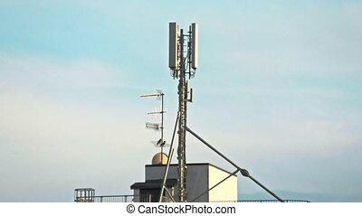 5G and WIFI antenna. The concept of digital wifi connection ...