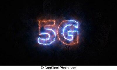 5g, communications., hohe geschwindigkeit, radio, internet.,...