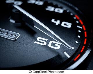 5g, compteur vitesse, évolution