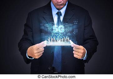 5G Internet network concept