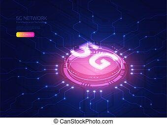 5g, isométrique, technologie
