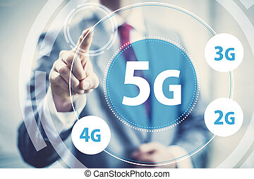 5g mobile data - High speed wireless mobile data 5g concept ...