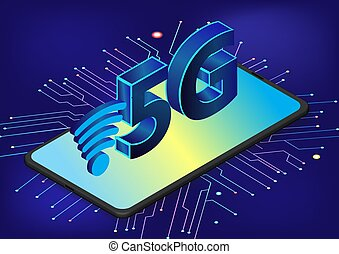 5G network wireless technology vector illustration