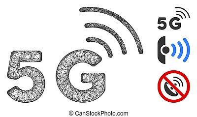 5G Polygonal Web Vector Mesh Illustration