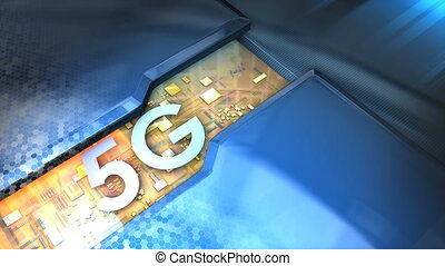 5G technology animation