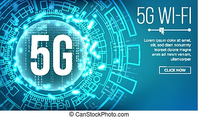 5g, wi - fi, 基準, 背景, vector., telecommunication., 無線, network., インターネット, wi - fi, connection., 未来, 技術の 実例