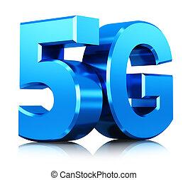 5g, wireless kommunikáció, technológia, jelkép