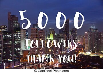 5k followers sign