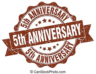 5th anniversary stamp. sign. seal