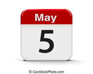 5th May - Calendar web button - The Fifth of May -...