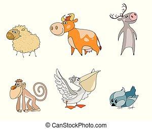 6匹の動物, 漫画, 特徴