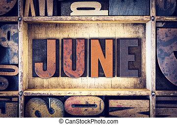 6月, 概念, タイプ, 凸版印刷