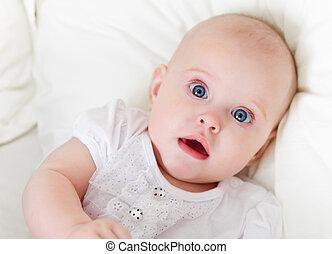 6, 古い, 屋内, 月, 赤ん坊, 肖像画