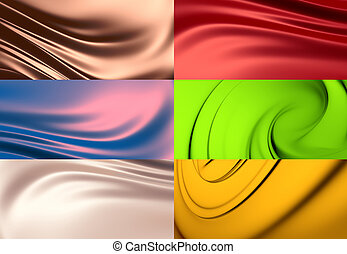 6 abstract backgrounds set