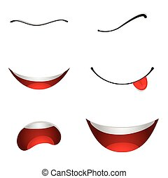 Cartoon mouths set