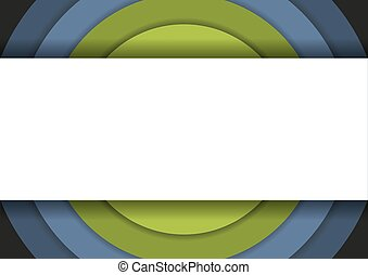 6 concentric circles in cold colors and large copyspace in...