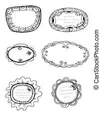 6 decorative frames