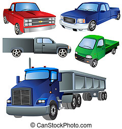 6 different trucks 1 - A collection of six different truck...