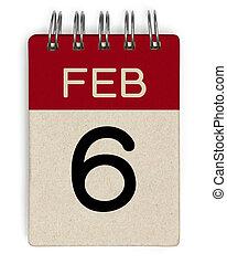 6, feb, naptár