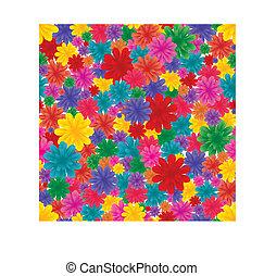 6., illustration, seamless, blomstrede, afdelingen, vektor, ...
