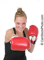 6, kvinna, boxare