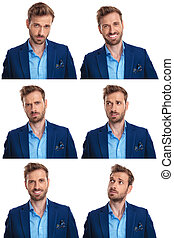 6 moods of a young sexy man