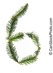 6 - number symbol from christmas alphabet