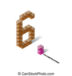 6 - Pixel Isometric Alphabet - Numbers