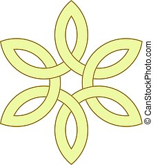 6-point Celtic knot vector