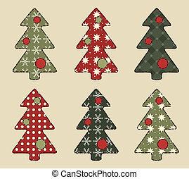 6, set, kerstboom