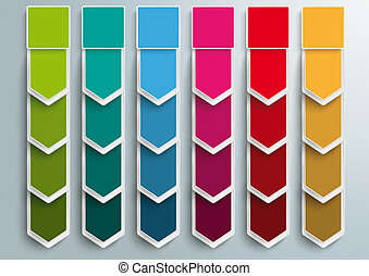 6 Step Arrows Oblong Banners - Oblong banners 6 options on...