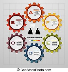 Six 6 elements of idea info graphic chart vector bulb... clip art ...