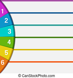 6 strips and colorful semicircle - Infographics strips and ...
