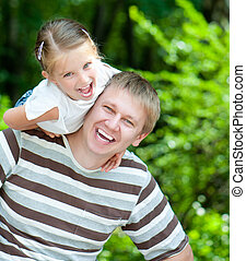 girl with her dad