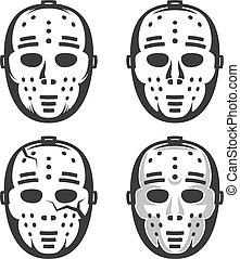 60, classique, vendange, masque, hockey, goal