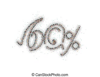60% OFF Particle Sale Discount Banner. Discount offer price tag. Vector Illustration.