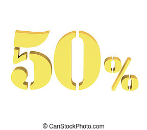 60 percent discount symbol YELLOW color isolated white background.