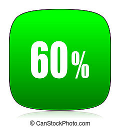 60 percent green icon
